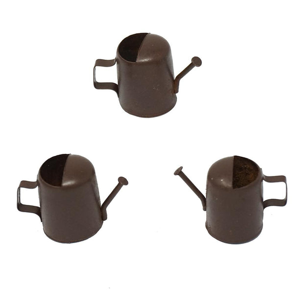 Miniature Rustic Metal Water Cans, 3/4-Inch,  3-Count