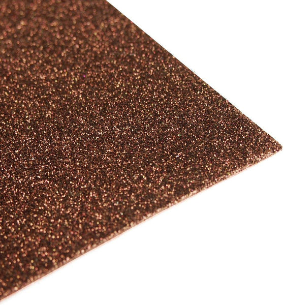Glitter EVA Foam Sheet, 9-1/2-Inch x 12-Inch, 10-Piece, Brown