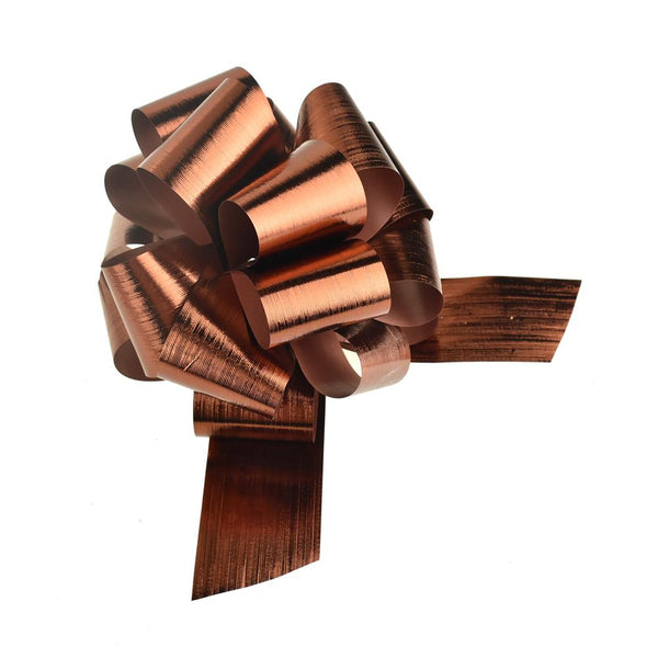 Metallic Pull Bows for Gift Wrapping, 2-Piece, Large, Copper