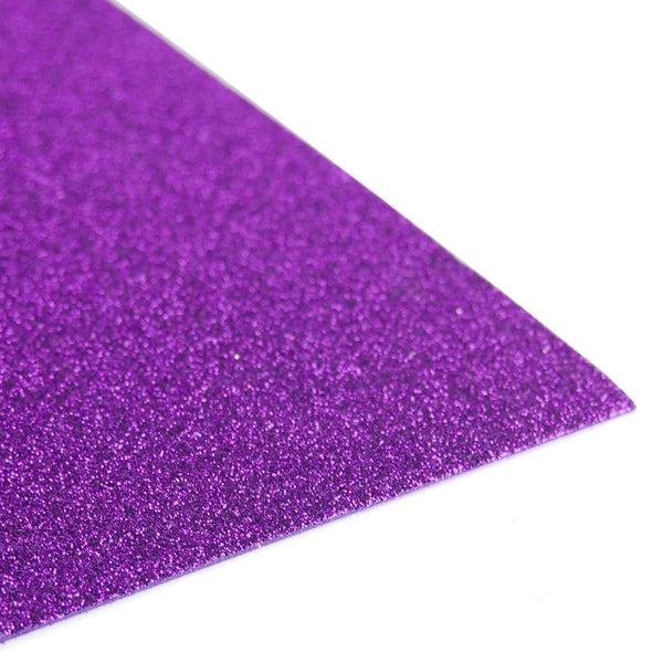 Glitter EVA Foam Sheet, 13-inch x 18-inch, 10-Piece, Purple