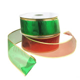 12-Pack, Gleam Wired Metallic Christmas Holiday Ribbon, 2-1/2-Inch, 50 Yards