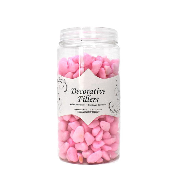 Acrylic Crystal Rocks Decorative Vase Filler, Pink, 9/10-Pound