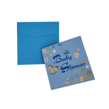 3D Baby Shower Nursery Invitations, 5-3/4-Inch, 10-Piece, Blue