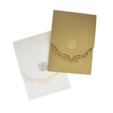 Metallic Embossed Laser Cut Design Invitations, 5-1/4-Inch, 8-Piece