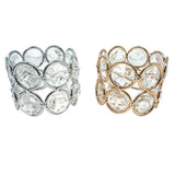 Crystal Napkin Ring Holders, 1-1/2-Inch, 4-Count