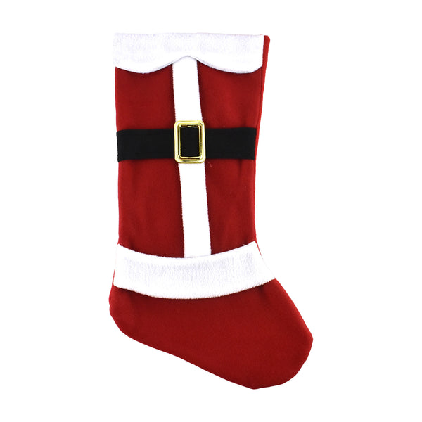 Santa Claus Fleece Christmas Stocking, 18-Inch