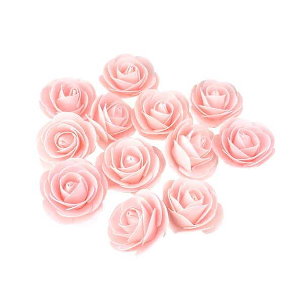 Craft Foam Roses, Pink, 3-Inch, 12-Count