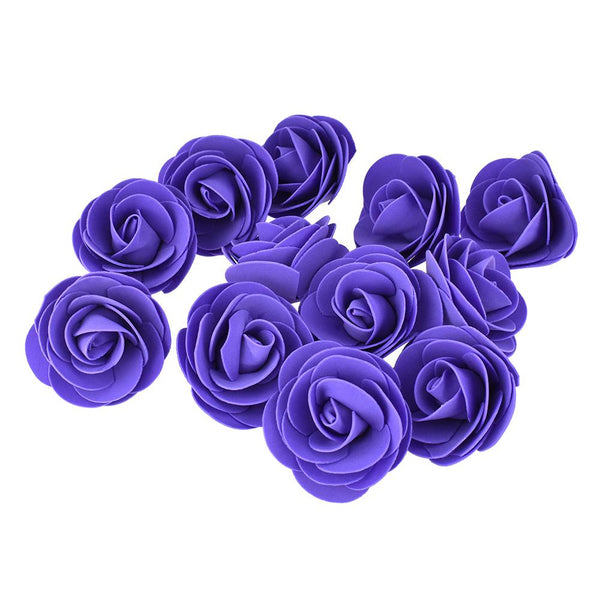 Craft Foam Roses, Purple, 3-Inch, 12-Count
