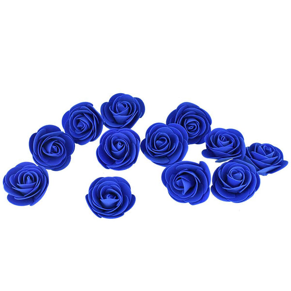 Craft Foam Roses, Royal Blue, 3-Inch, 12-Count