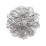 Artificial Silk Flat Carnations, 3-Inch, 12-Piece, Silver