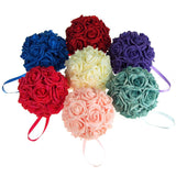 12-Pack, Soft Touch Flower Kissing Balls Wedding Centerpiece, 6-inch
