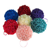 12-Pack, Soft Touch Flower Kissing Balls Wedding Centerpiece, 7-inch