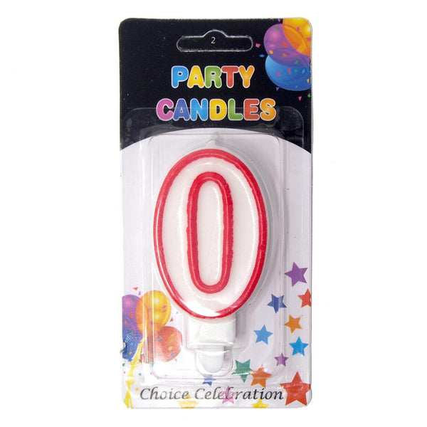 12 Pack Red Outline Number Birthday Candle 2 1 Inch Firefly Imports