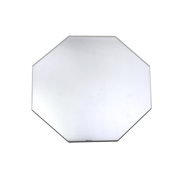 Octagonal Glass Centerpiece Mirror, Clear, 7-7/9-Inch