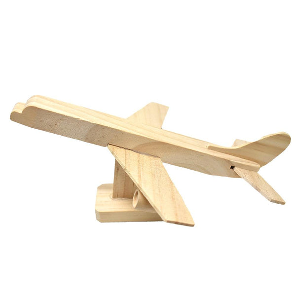 DIY Wooden Jumbo Jet Model Kit, Natural, 12-Piece