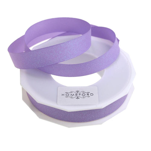 Dazzle Glitter Grosgrain Ribbon, 5/8-Inch, 20 Yards, Light Orchid