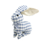 Plush Gingham Bunny Home Accent, Blue, 7-3/4-Inch