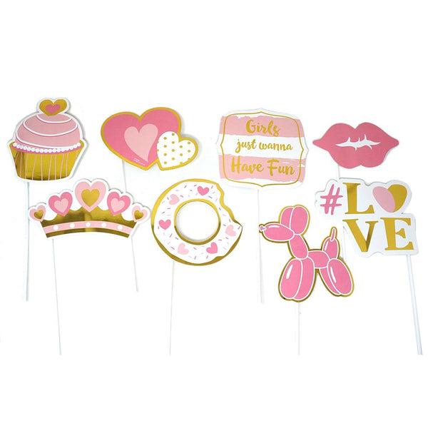 Valentine Photo Props with Hot Stamping, 8-Piece