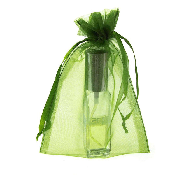 Organza Favor Pouch Bag, 5-Inch x 6-1/2-Inch, 12-Count, Apple Green