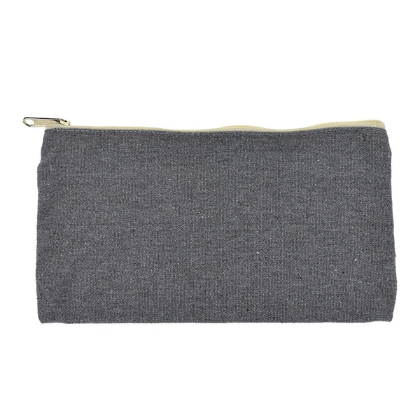 Recycled Canvas Zipper Pouch, 9-1/4-Inch