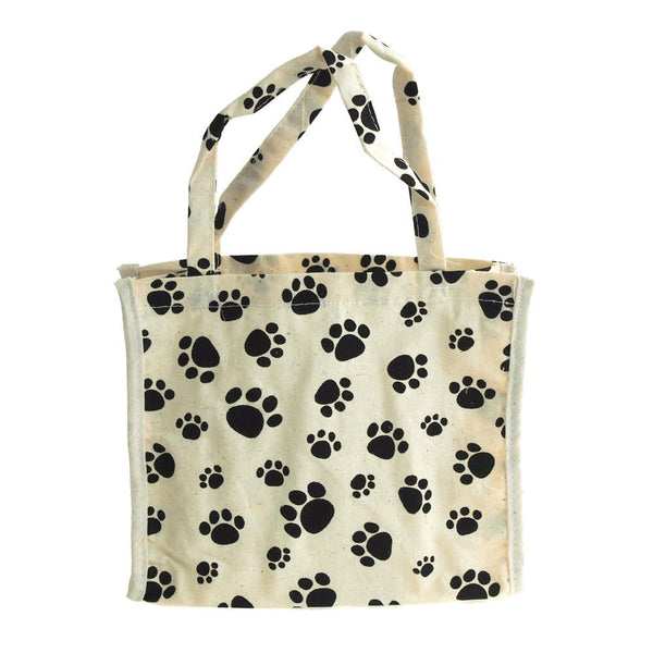 12-Pack, Animal Paw Print Cotton Tote Bag, 7-Inch, 6-Piece