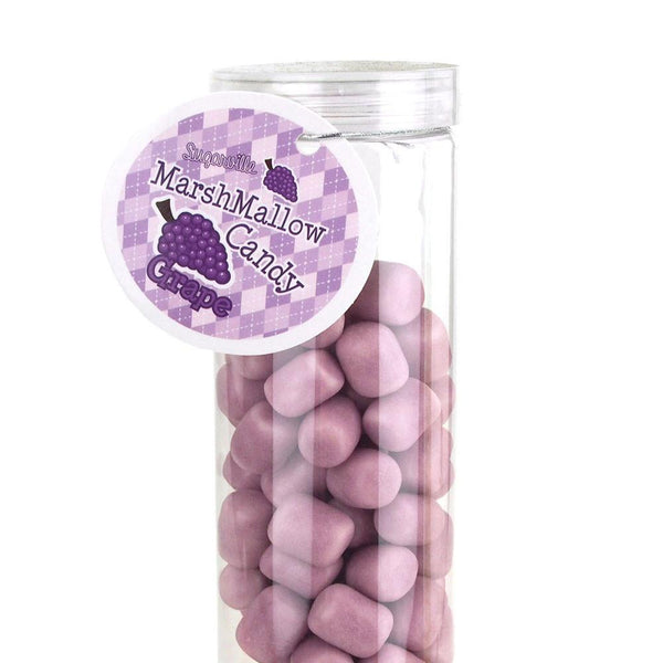 12-Pack, Marshmallow Candy Plastic Tube Party Favor, 200-gram, 12-Inch, Grape