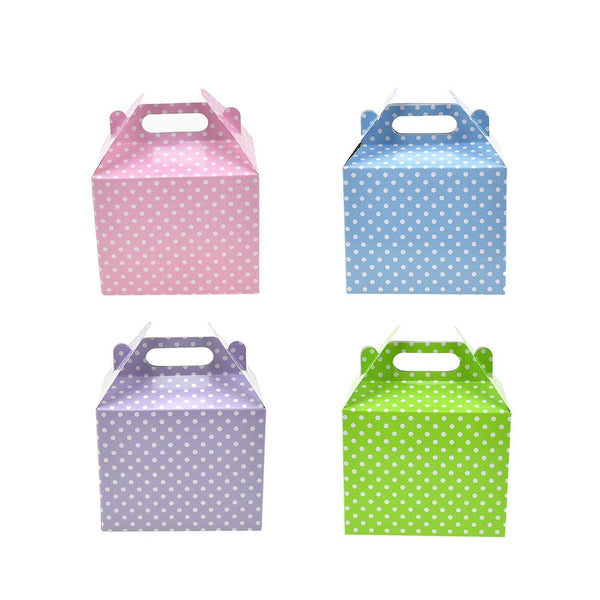 12-Pack, Polka Dot Patterned Party Favor Boxes, 4-3/4-Inch, 3-Count
