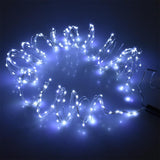 12 Pack, 6 Strand Spray Copper Wire Fairy Lights, Cool White, 10-Feet