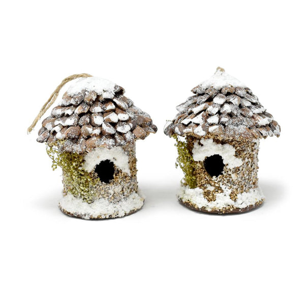 12-Pack, Decorative Mini Cone and Shell Birdhouse, 3-1/2-Inch, 2-Piece