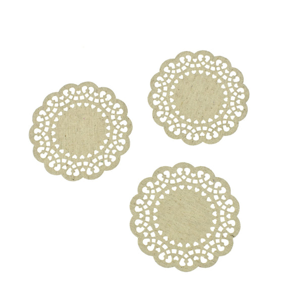 Craft Canvas Mini Cutout Heart Doilies, 4-1/16-Inch, 6-Count