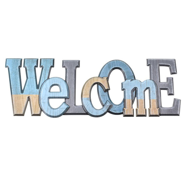 Welcome Puffy 3D Pop-Up Wall Art Sticker, 10-1/2-Inch