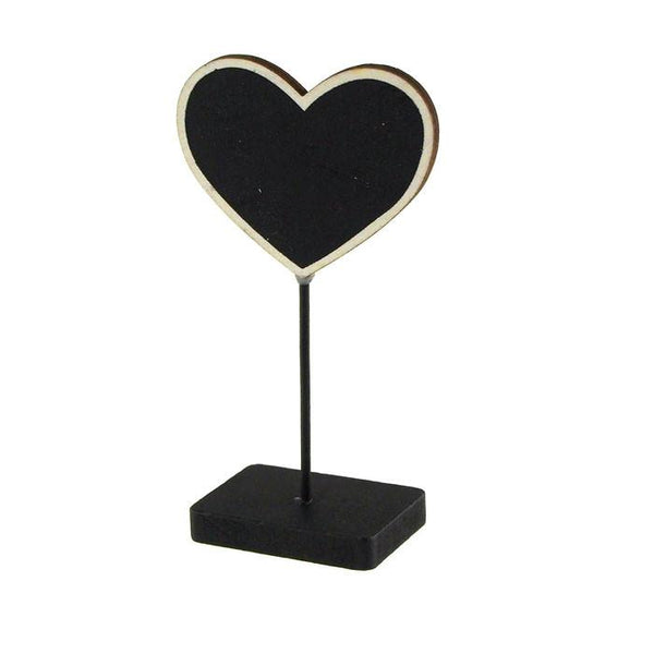12-Pack, Chalkboard Table Sign, Heart, 5-inch