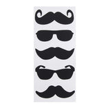 12-Pack, Chalkboard Label Stickers, Mustaches/Shades, 3-inch, 5-Piece