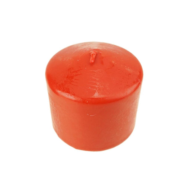 "Dome Top Press Unscented Pillar Candle, Red, 3"" x 3"""