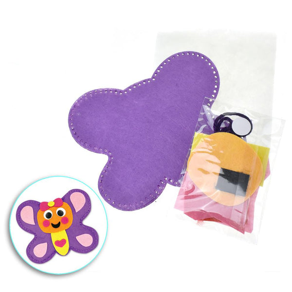 12-Pack, Butterfly Felt Friend Crafting Kit, 4-1/4-Inch
