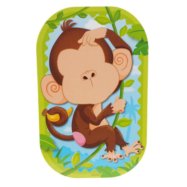 12-Pack, Funny Faces Sticker Set 3D, Monkeyin' Around