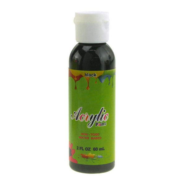 Acrylic Paint Bottle Non-Toxic, 60 mL, Black