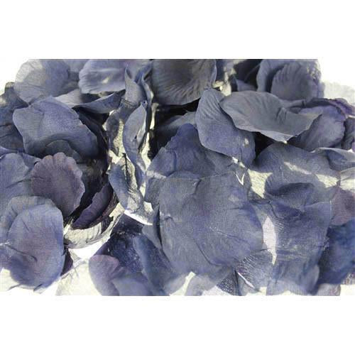 12-Pack, Solid Faux Rose Petals Table Confetti, 400-Piece, Antique Blue