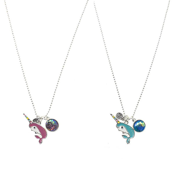 Narwhal Best Friend Necklaces, 20-Inch, 2-Piece