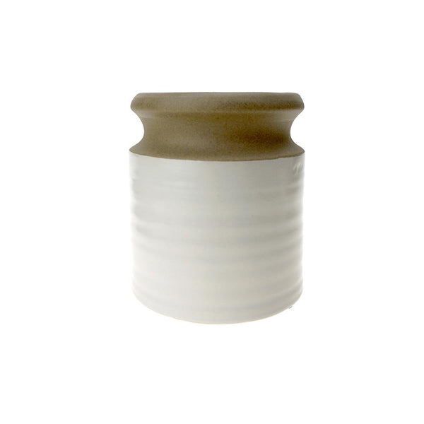 Two Toned Tapered Ceramic Pot, 4-1/4-Inch