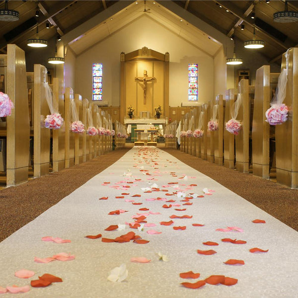 Wedding Aisle Runner Non-Woven with Vines, 40-Inch x 100-feet