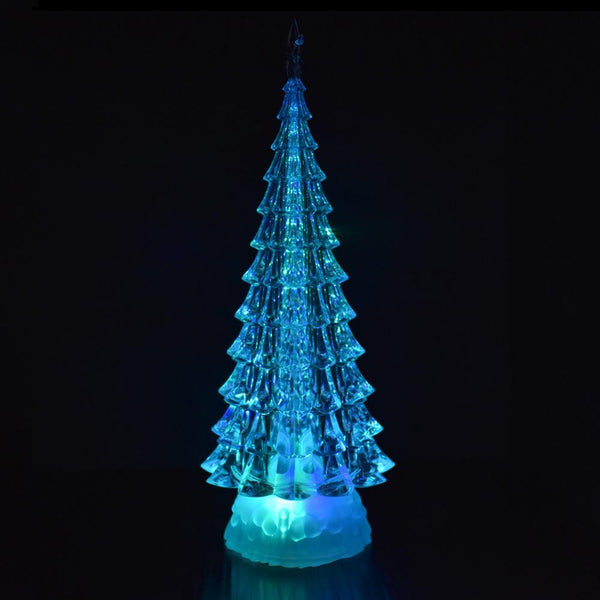 12 Pack Color Changing Acrylic Led Christmas Tree Decoration 12 1 2 Inch