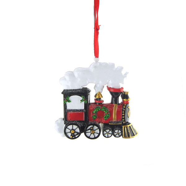 12-Pack, Christmas Resin Train Ornament, 3-Inch