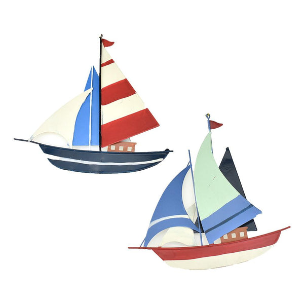 12-Pack, Seafaring Sailboats Christmas Ornaments, 5-1/4-Inch, 2-Piece