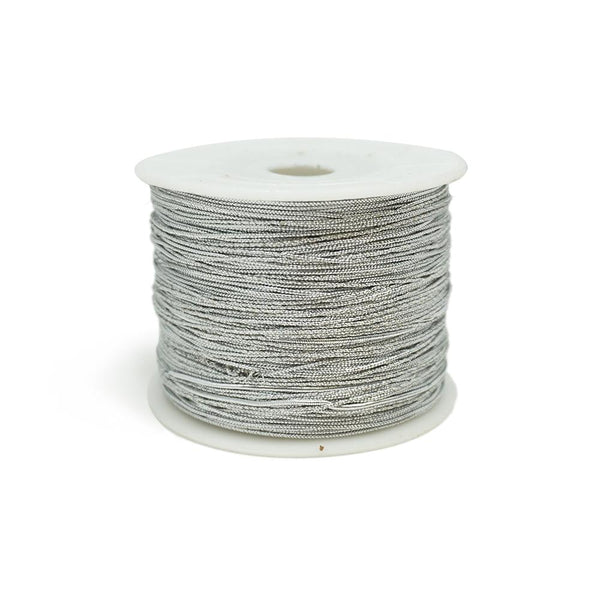 Elastic Stretch Jewelry Cord, Silver, 1mm, 100-Yard