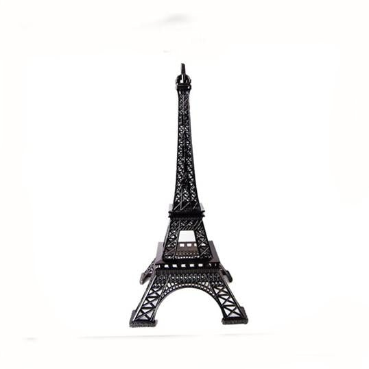Metal Eiffel Tower Paris France Souvenir, 6-inch, Black