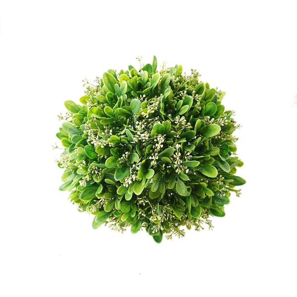 Artificial Plant Grass Ball Wedding Decor, Green, 8-1/4-Inch