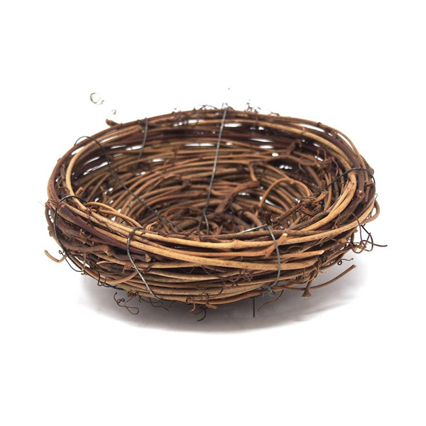 12 Pack, Artificial Bird Nest Wreath Decoration, 4-Inch