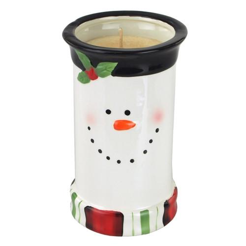 12-Pack, Snowman Ceramic Pot Scented Candle, 6-3/4-Inch