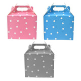 Polka Dot Cardboard Favor Box, 5-1/4-inch, 4-Count